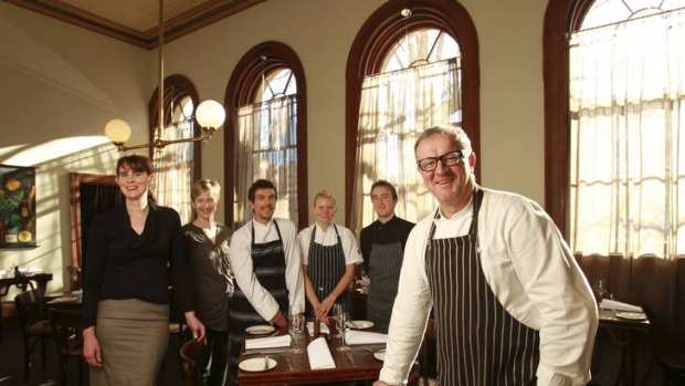 Michael Ryan, The Age Good Food Guide's 2013 Chef of the Year, and team at Provenance, Beechworth.