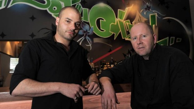 Co-owner Grant Macara, left, and head chef Derek Brown at Soju Girl.