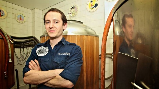 Andrew Robson, head brewer at the Lord Nelson Hotel, Sydney.