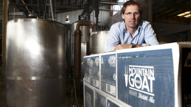 Cam Hines from Mountain Goat microbrewery.