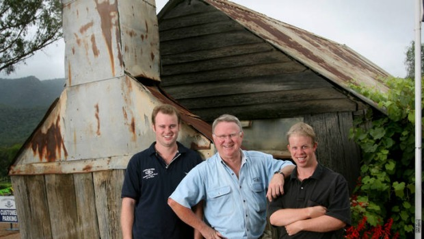 Chris Tyrrell, Bruce Tyrrell and John Tyrrell of Tyrell Wines.