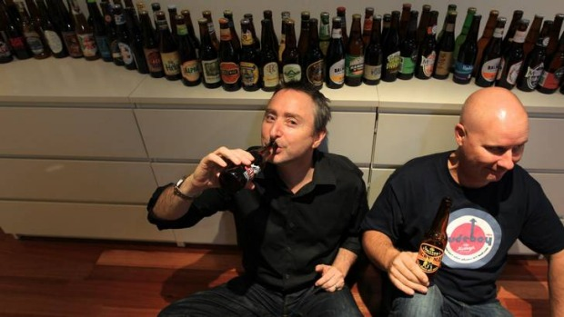 Scott Ellis and Shane Maguire, drinking their way through the year of 2012.
