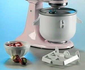 The KitchenAid ice-cream attachments.