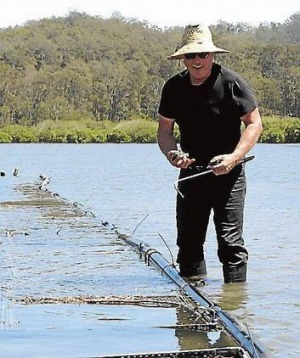 Steve Feletti, owner of The Moonlight Flat Oyster Company in the Clyde River, Batemans Bay.