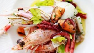 Neil Perry's seafood antipasto.