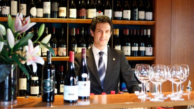 Be prepared ... Aria's sommelier Matthew Dunne says it's worth checking out the wine list online before dining out.