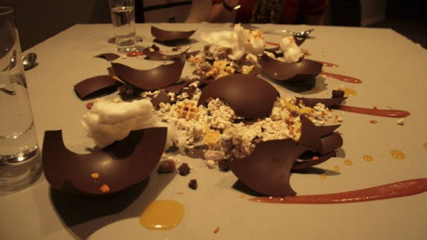 Dessert at Alinea.