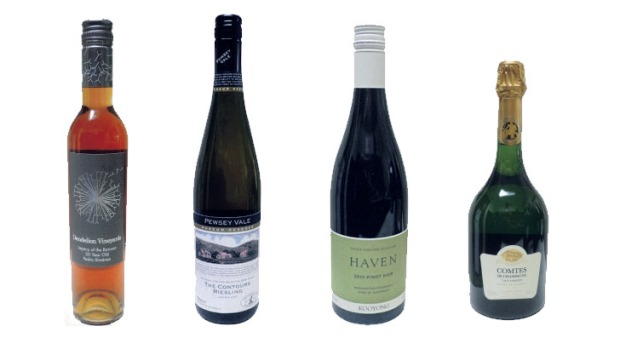 From left: Dandelion Vineyards Legacy of the Barossa 30-year-old Pedro Ximenez, Pewsey Vale The Contours 2007, Kooyong ...