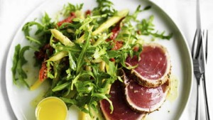 Neil Perry's spice-crusted tuna salad.