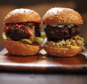 Go-to dish ... lamb kofta and crab and prawn sliders.