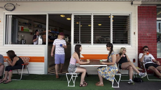 Remembrance of summers past ... Sutherland's Left Bower Cafe celebrates Aussie caravan holidays.