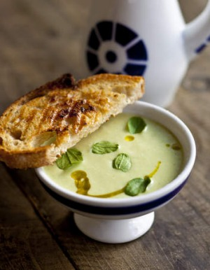 Cold comfort ... beat the summer heat with cucumber and yogurt soup.