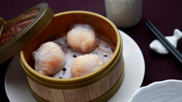 The prawn dumplings.