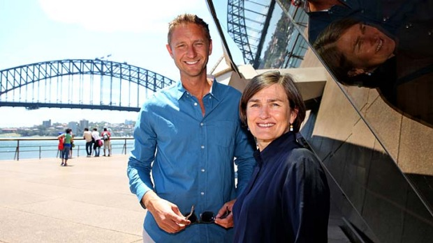 Swoon site ... a very chuffed Justin Hemmes and the equally pleased Opera House CEO, Louise Herron.