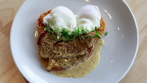 Beef brisket with eggs and a crunchy hash brown is thestar of Mr Brightside's breakfast menu.