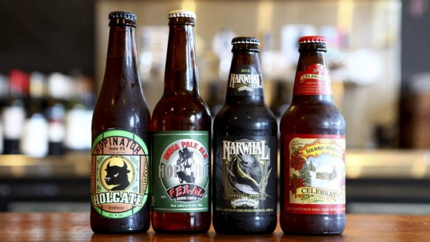 A growing range ... Holgate Hopinator, Feral Hop Hog, Sierra Nevada Narwhal and Sierra Nevada Celebration 2012.