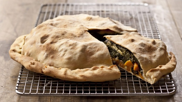 Don't be scared at the thought of making pastry friom scratch: Frank Camorra's sweet potato and Swiss chard pie.