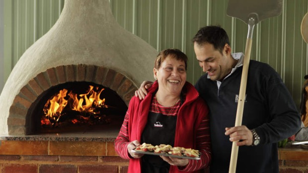 Riccardo Momesso, who is to leave Sarti, cooking homemade food with his mother Lucy at his parents' farm in 2010.