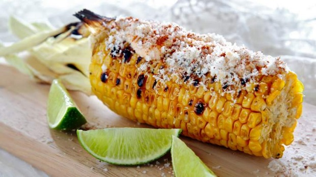 Grilled corn with chipotle mayo.