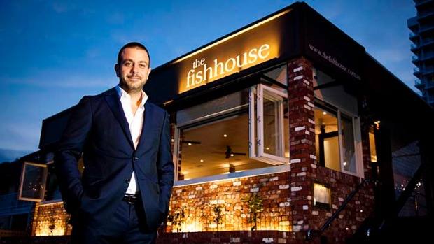 A different focus to Hellenika ... Simon Gloftis at his new venture The Fish House.