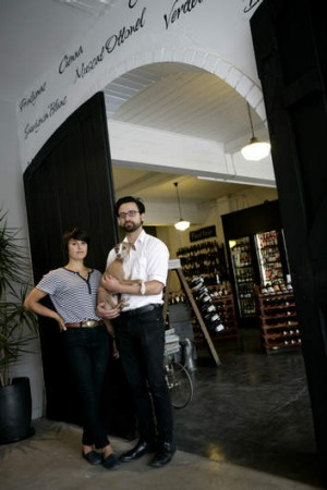 Blackhearts & Sparrows owners Jessica and Paul Ghaie at the Fitzroy store.