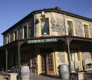 The 150-year old Tooborac Hotel and Brewery.