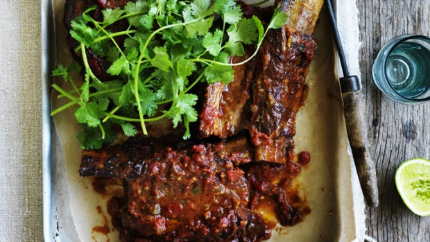 Neil Perry's ribs; simply add tortillas and a shredded cabbage salad.