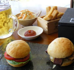 Growing food scene ... Sliders are on the menu at Pigs and Pints.