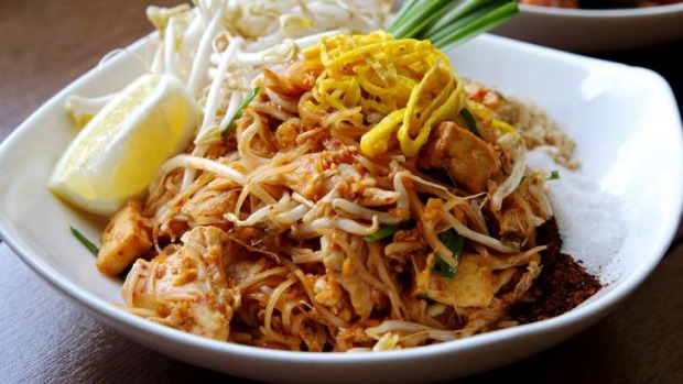 Go-to dish ... chicken pad Thai.