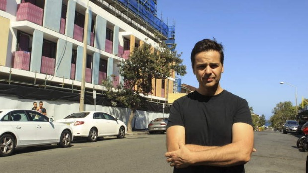 Eugenio Maiale in front of the building that will house his new restaurant, A Tavola - Bondi.
