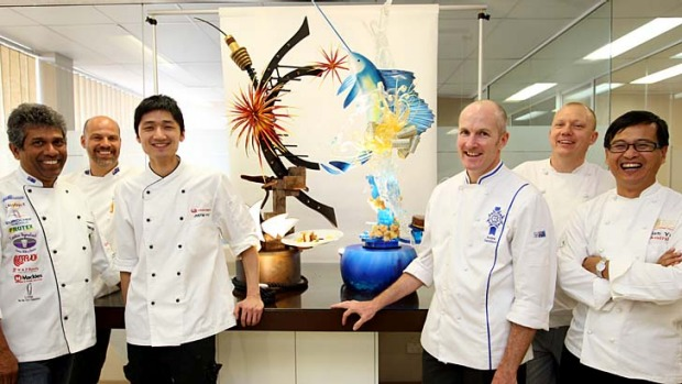 Rock stars of the pastry world ... Team Pastry Australia from left: mould maker and sugar specialist Dammika ...