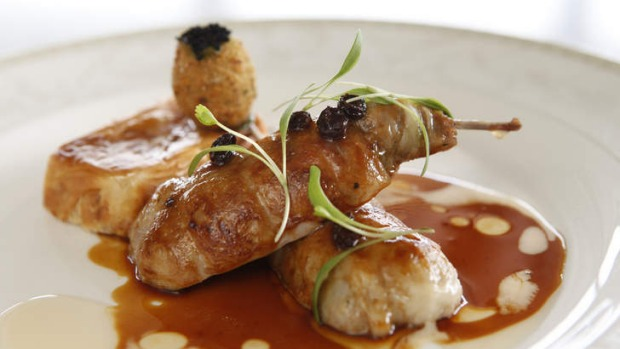 Pierre Khodja impresses with dishes such as roasted quail and crab bastilla.