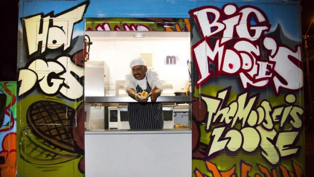 Big Moose's Food Van serves up parma dogs.