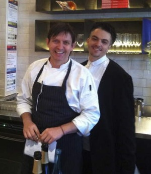 Andrew McConnell and former restaurant manager Leeroy Kirk-Walker at Golden Fields.