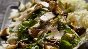 Chinese cabbage, shiitake and tofu salad.