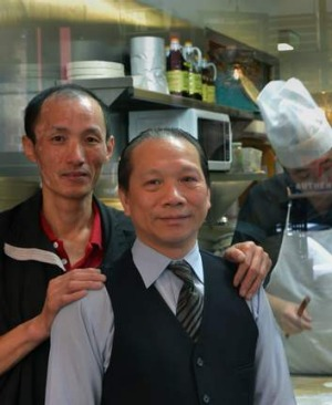 Head chef Jian Qin Chen and manager Patrick Liu at HuTong restaurant.
