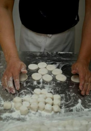 Getting ready to roll the dough at Shanghai Street.
