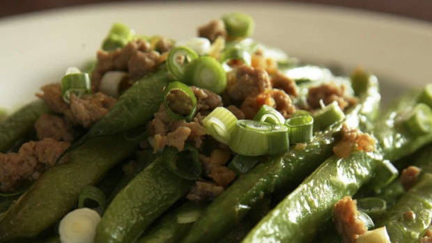 Side dish: Chinese style dry-seared beans.