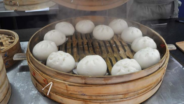 Dumplings ... Steamed will be the first food cart on the road.