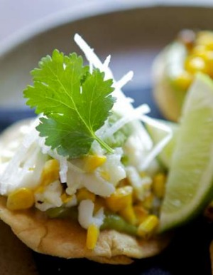 Radio Mexico proves seafood and sweet corn are an ideal combo with its crab and corn tostaditas.