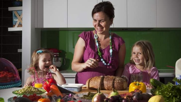 Tina Mizgalski believes providing healthy food for her two young girls (Ella, age 6 and Ruby, age 2) is most important ...