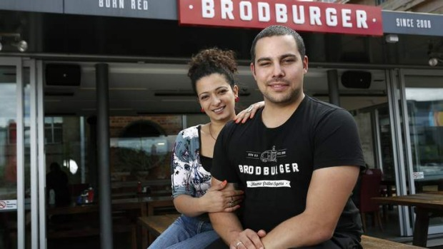 Joelle and Sascha Brodbeck, from Brodburger.