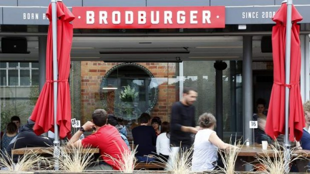 Brodburger in its permanent spot behind the Canberra Glassworks in Kingston.