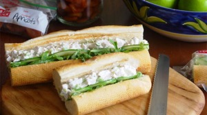 Chicken salad baguette