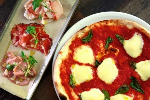 Salumi and pizza add up to a satisfying meal.