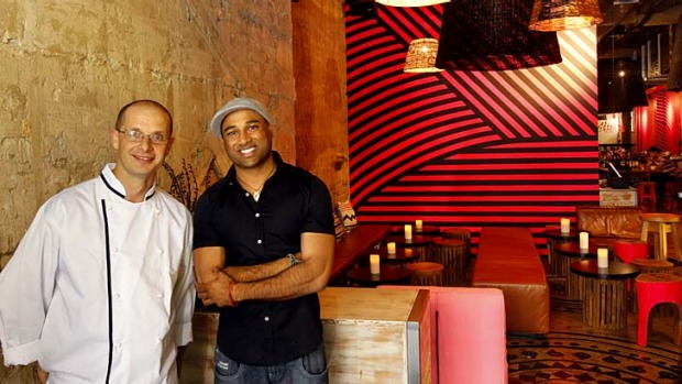 Mejico owner Dr Sam Prince and head chef Daniel Schai in the new restaurant.