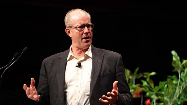 Large-scale food processing a problem Joel Salatin tells Sydney audience.