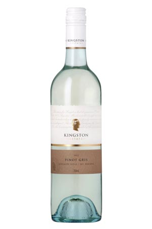 Huon Hooke - Kingston Estate Pinot Gris, Adelaide Hills & Mt Benson 2012