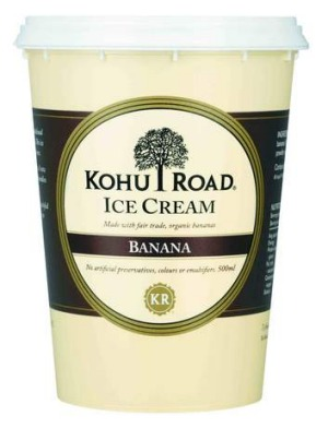 Creamy and lush ... Kohu Road's Banana ice-cream.
