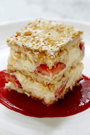 Go-to dish ... strawberry mascarpone.